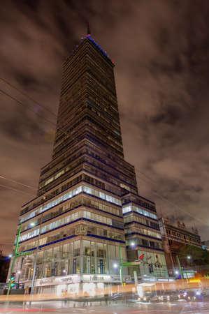 Latinoamericana Tower  Torre Latinoamericana  at night  Located near the Zocalo, in Mexico City