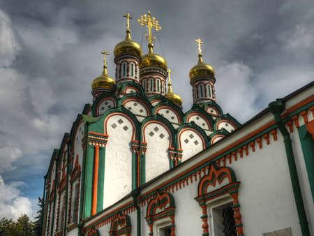 weavers: The Church of Saint Nicholas in Khamovniki  A late 17th-century parish church of a former weavers sloboda in the Khamovniki District of Moscow