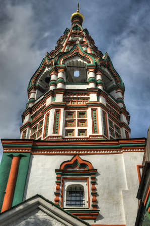weavers: The Bell Tower of the Church of Saint Nicholas in Khamovniki  A late 17th-century parish church of a former weavers sloboda in the Khamovniki District of Moscow