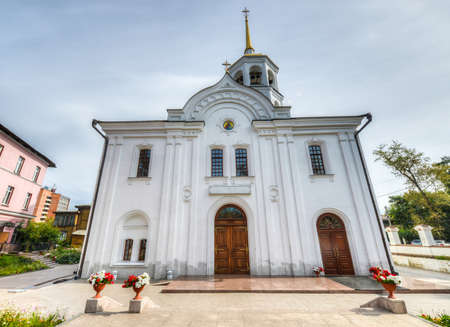 consecrated: Church of Archangel Michael built in 1738  In 1739 it was consecrated in honor of Kharlampiy the Martyr and Archangel Michael  In 1931 it was made a hostel, then Irkutsk State University Library