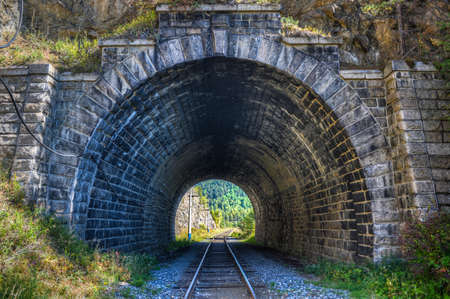 The Circum-Baikal Railway Tunnel - a historical railway that runs along Lake Baikal in the Irkutsk region of Russia