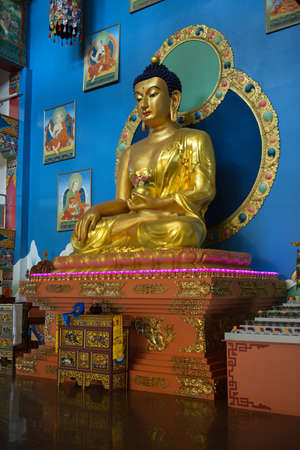 virtue: Golden Buddha of Rinpoche Bagsha Datsan Monastery in Ulan-Ude, Russia  A center devoted to preservation, development   distribution of the Buddhism of classical tradition Gelukpa -  School of Virtue
