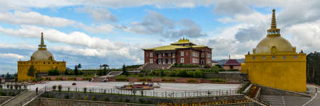 ulan ude: Rinpoche Bagsha Datsan Monastery Panorama in Ulan-Ude, Russia  A center devoted to preservation, development   distribution of the Buddhism of classical tradition Gelukpa -  School of Virtue