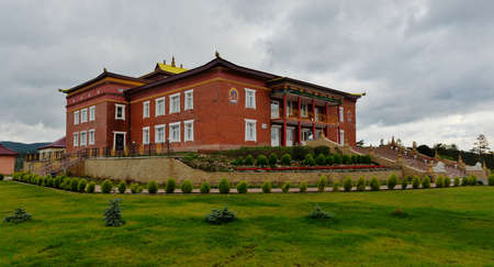virtue: Rinpoche Bagsha Datsan Monastery in Ulan-Ude, Russia  A center devoted to preservation, development   distribution of the Buddhism of classical tradition Gelukpa -  School of Virtue   Stock Photo