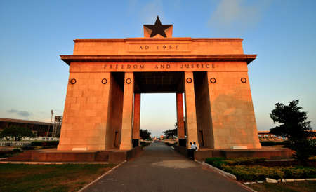 The Independence Arch of Independence Square of Accra, Ghana  Inscribed with the words  Freedom and Justice, AD 1957 , commemorates the independence of Ghana, a first for Sub Saharan Africa