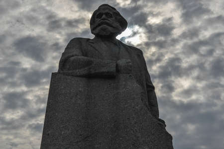 sociologist: Karl Marx Monument, Moscow, Russia  Inscribed with the words  Workers of the World Unite   Editorial