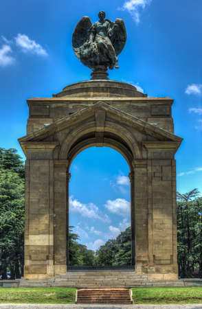 apartheid: The Anglo-Boer War Memorial  It is on the grounds of the Museum of Military History in Saxonwold, Johannesburg was known as the Rand Regiments Memorial and it was originally erected in memory of the soldiers who served and died in the Rand Regiments in th