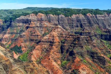 Waimea Canyon in Kauai, Hawaii Islands Viewed Close up photo
