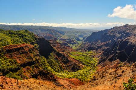 Puu Hinahina Lookout in Waimea Canyon of Kauai Hawaii
