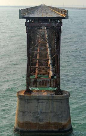 honda: Old Bahia Honda Rail Bridge, Florida  Stock Photo