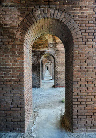 Arches to the ocean at Fort Jefferson at the Dry Tortugas National Park outside Key West, Florida