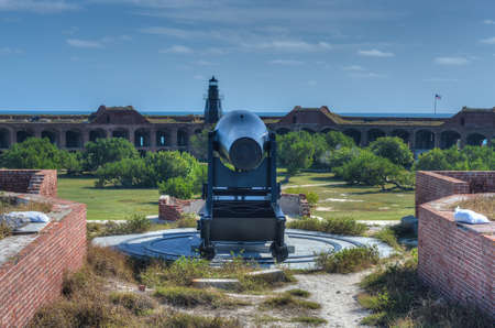 Cannon in Fort Jefferson at the Dry Tortugas National Park, Florida