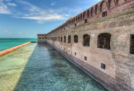 Fort Jefferson at Dry Tortugas National Park  Fort Jefferson was built to protect one of the most strategic deepwater anchorages in North America  photo