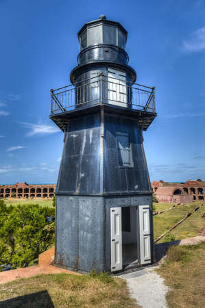fort jefferson: Garden Key Lighthouse at Fort Jefferson in Dry Tortugas National Park