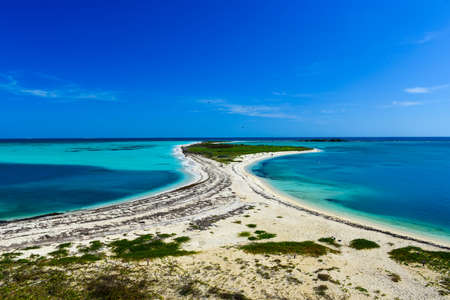 Bush Key in the Dry Tortugas National Park as seen from Fort Jefferson  Stock Photo