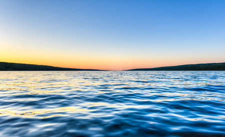 seneca: Seneca Lake, one of the Finger Lakes in Upstate New York at sunset.