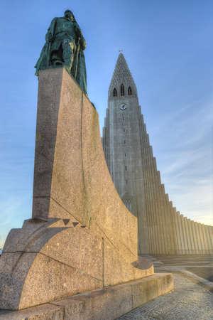 ericsson: Hallgrimskirkja Cathedral in Reykjavik, Iceland.  The Lutheran (Church of Iceland) parish church in Reykjavik, Iceland. At 73 metres (244 ft), it is the largest church in Iceland.