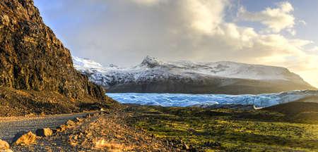 Skaftafellsjokull Glacier in Iceland, part of Vatnajoekull National Park  Reklamní fotografie