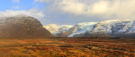 Vatnajokull  meaning Glacier of Rivers , also known as the Vatna Glacier, is the largest and most voluminous Icelandic glacier, and one of the largest in area in Europe  photo