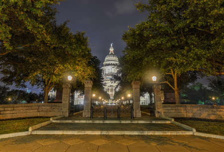 The Texas State Capitol Building in downtown Austin at Night. Built in 1882-1888 of distinctive sunset red granite. Reklamní fotografie