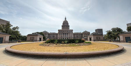 The Texas State Capitol Building in downtown Austin. The building was built in 1882-1888 of distinctive sunset red granite. photo