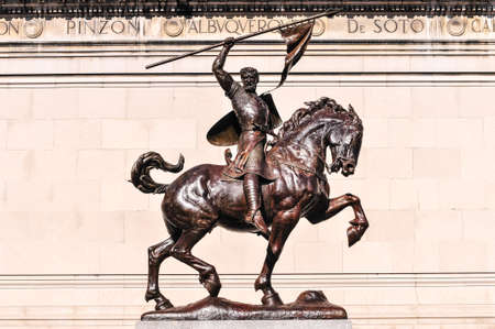 cid: Equestrian statue of legendary Spanish Castillian nobleman and military leader El Cid at the Hispanic Society of America Museum at 155th Street and Broadway.