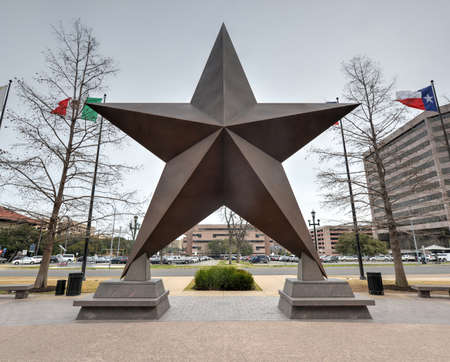 bullock: Texas Star in front of the Bob Bullock Texas State History Museum in downtown Austin, Texas.
