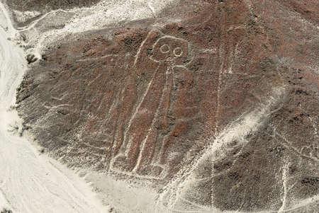 Nazca Lines Astronaut as viewed from a plane, Nazca, Peru  Standard-Bild