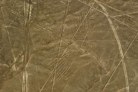 Nazca Lines Condor as viewed from a plane, Nazca, Peru.