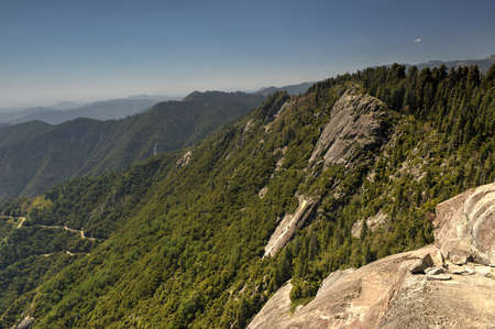 Moro Rock and Trail, Sequoia National Park, California.