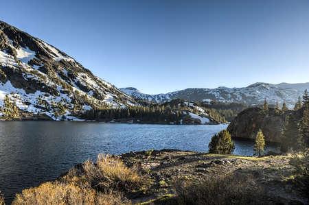 inyo national forest: Inyo National Forest - Ellery Lake - Yosemite National Park, California.