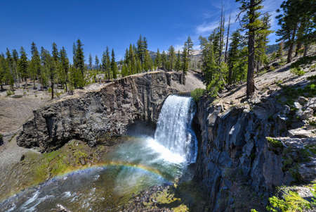 joaquin: Rainbow Falls at Devils Postpile National Monument Stock Photo