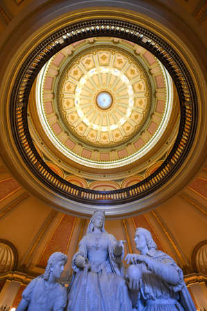 queen isabella: Columbus Last Appeal to Queen Isabella Statue and Rotunda in Sacramento Capitol, California. Editorial