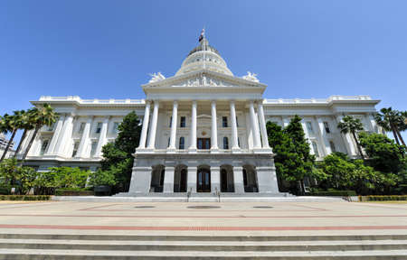 Sacramento Capitol Building in California. The building serves as both a museum and the state's working seat of government. Stock Photo