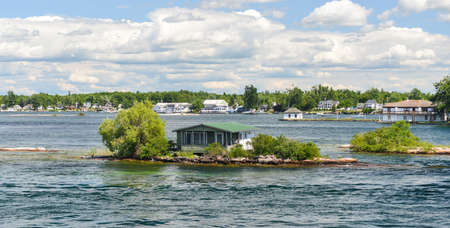 House in the Thousand Islands on Saint Lawrence River. photo