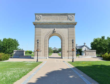 canadian military: Royal Military College of Canada Memorial Arch, Kingston, Ontario.