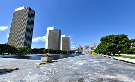 state government: Empire State Plaza, a complex of several state government buildings in downtown Albany, New York.