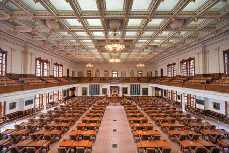 AUSTIN, TEXAS - MARCH 7: The House of Representatives Chamber of the Texas State Capitol building on March 7, 2014 in Austin, Texas.