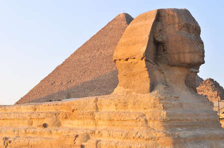 The Sphinx of Giza in Cairo, Egypt.    Banco de Imagens