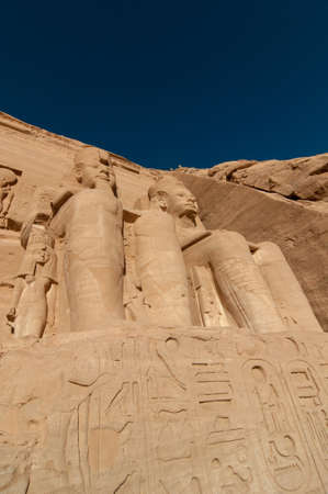 The Great Temple of Abu Simbel on the border of Egypt and Sudan. photo