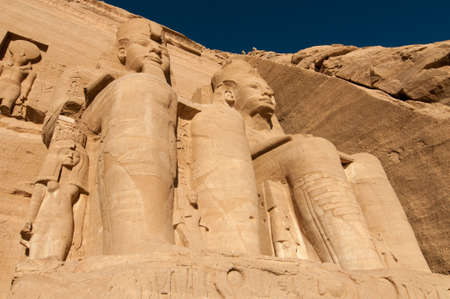 past civilizations: The Great Temple of Abu Simbel on the border of Egypt and Sudan.