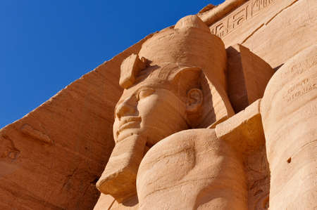 The Great Temple of Abu Simbel on the border of Egypt and Sudan.