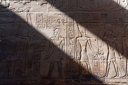 Ruins of the Ancient Karnak Temple in Luxor, Egypt, Africa. Banco de Imagens