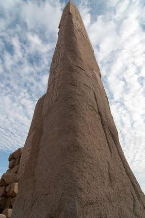 Obelisk of the Ancient Karnak Temple in Luxor, Egypt, Africa.