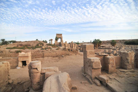 Ruins of the Ancient Karnak Temple in Luxor, Egypt, Africa. Stock Photo