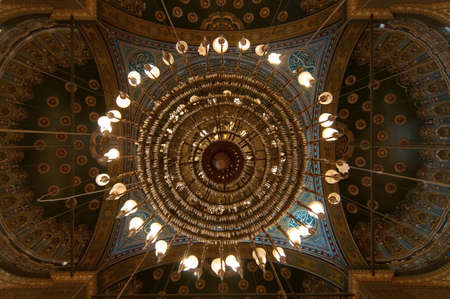 Mohamed Ali Mosque Interior Dome of the Saladin Citadel of Cairo, Egypt. Editorial