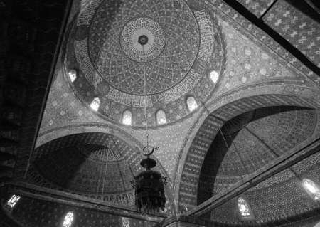 Mosque of the Saladin Citadel of Cairo, Egypt. Editorial