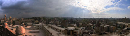 View of Cairo, Egypt from the Al Azhar Mosque of the Saladin Citadel
