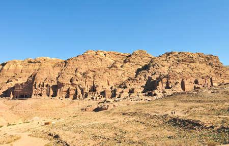 ナバテア王国の首都 (アル Khazneh)、ペトラ、ヨルダン。 写真素材
