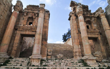 hadrian: Ancient Jerash ruins,(the Roman ancient city of Geraza), Jordan Stock Photo